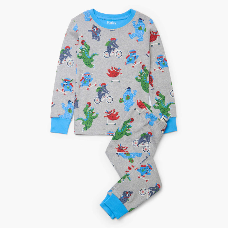 Hatley Back to School  Monsters Organic PJS
