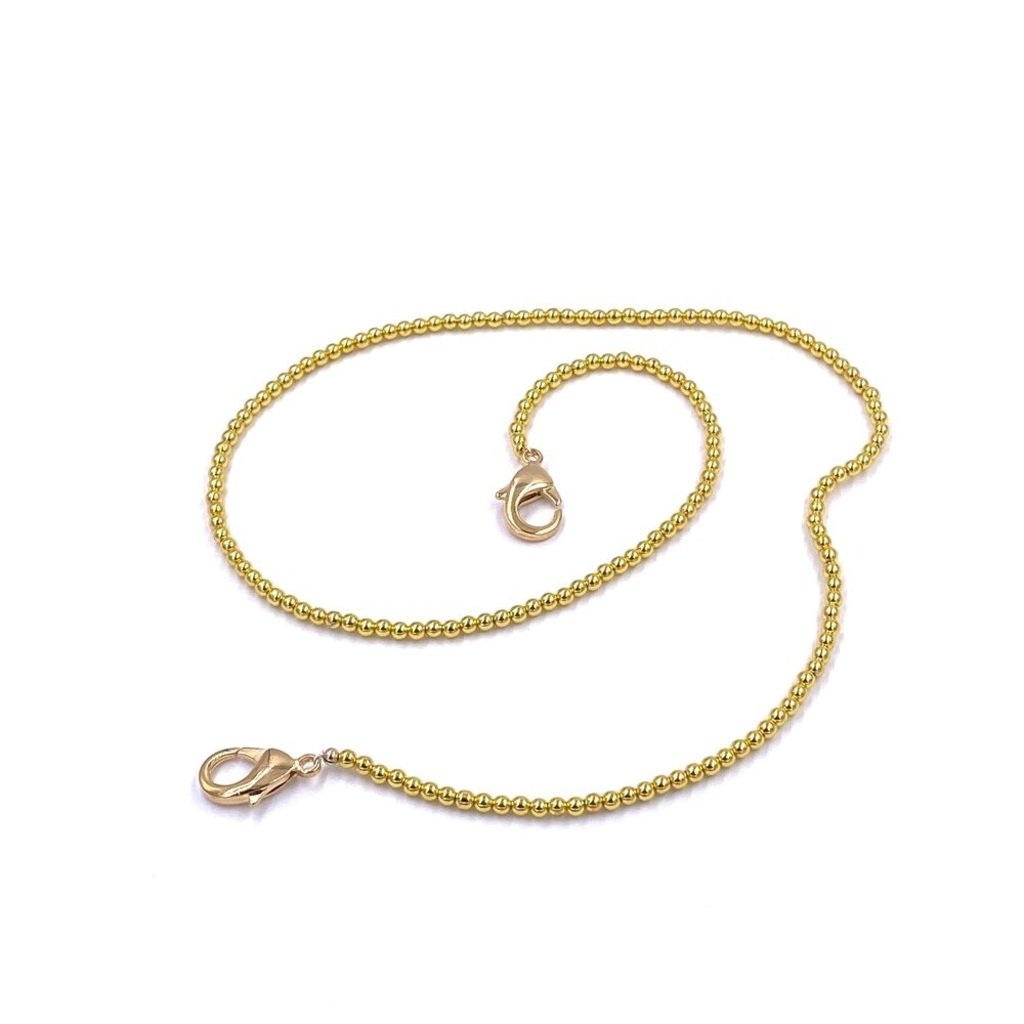 Ashley Gold Gold Ball Mask Chain