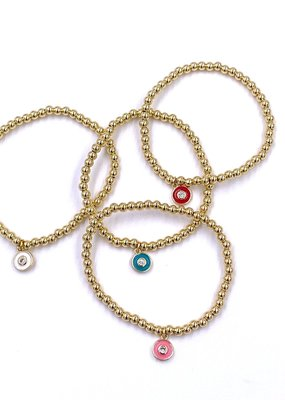 Ashley Gold Children's Gold Ball Stackable Bracelets