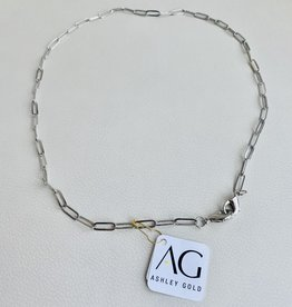 Ashley Gold Silver Link Mask Chain