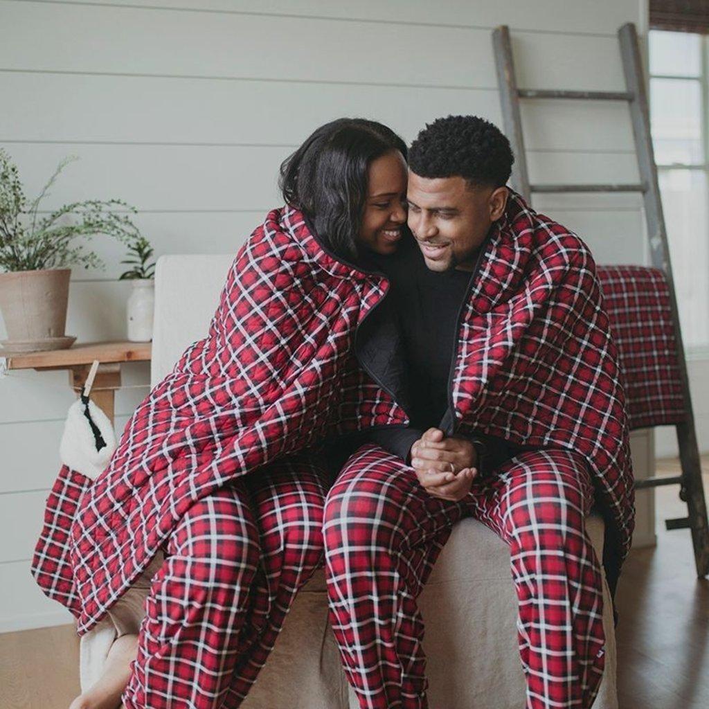 Kickee Pants Crimson Holiday Plaid Men's PJ