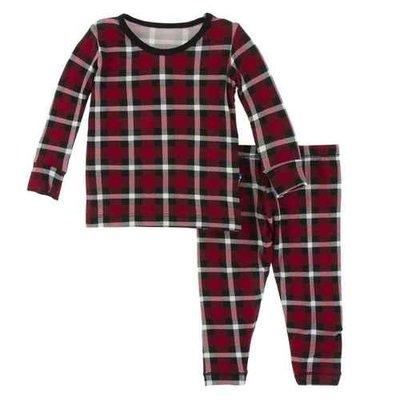 Kickee Pants Crimson Holiday Plaid