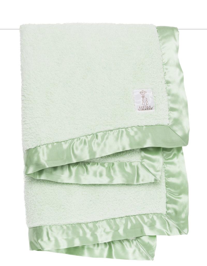 Little Giraffe Sage Chenille Blanket