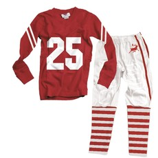 Wes and Willy Reindeer Football PJs