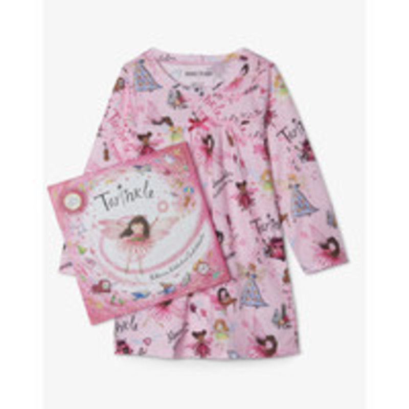 Hatley Twinkle Night Dress and Book Set