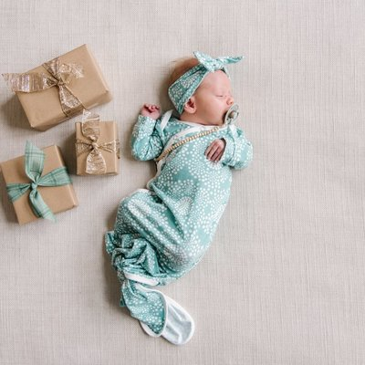 Copper Pearl Jane Newborn Knotted Gown
