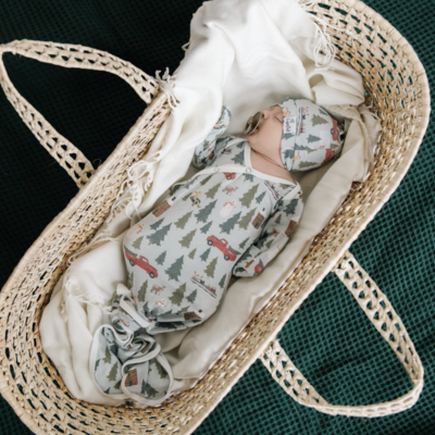 Copper Pearl Kringle Newborn Knotted Gown