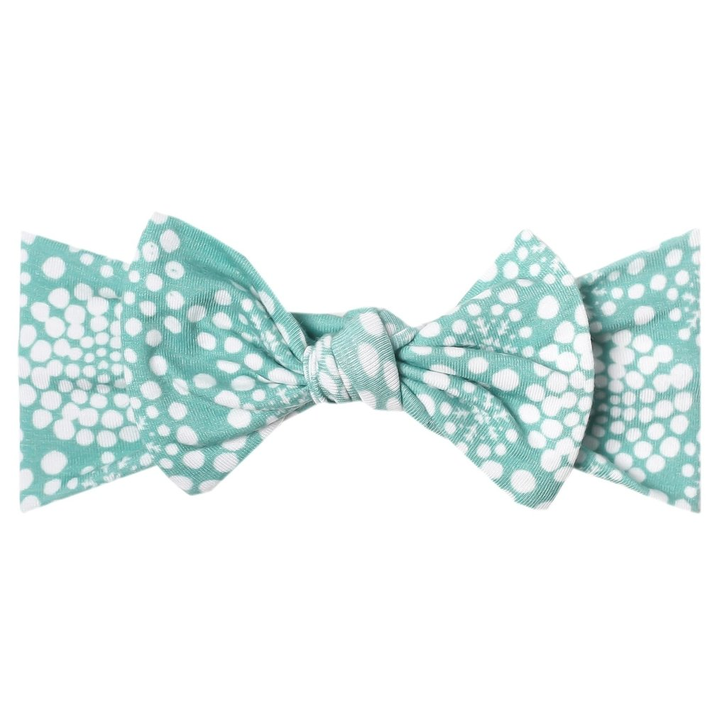 Copper Pearl Jane Knit Headband Bow