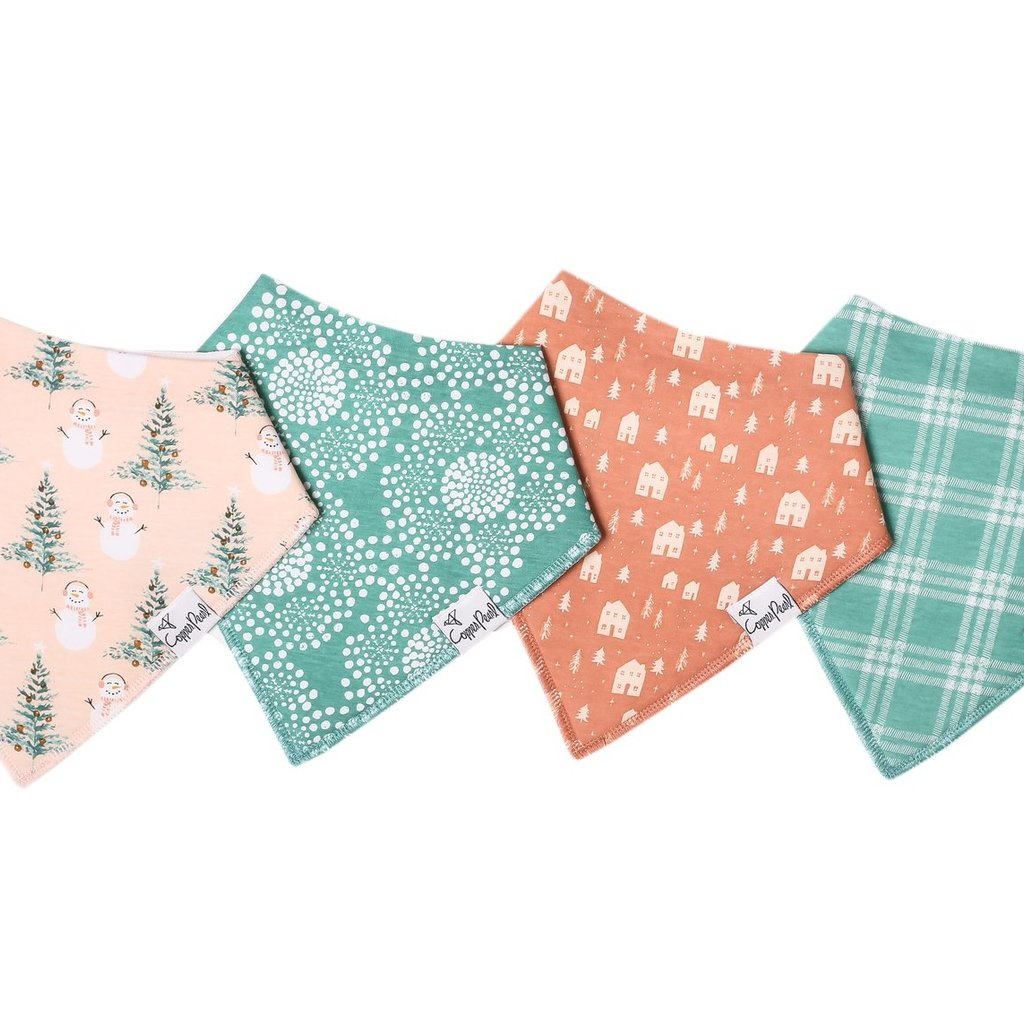 Copper Pearl Jane Bandana Bib 4 pack
