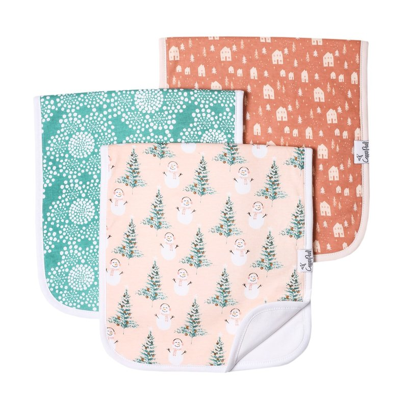 Copper Pearl Jane Burp Cloth 3 pack