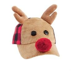 Mud Pie Reindeer Buffalo Check Hat