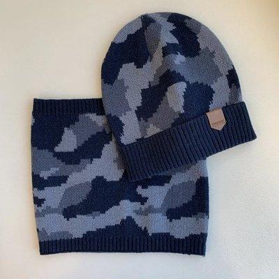 Mayoral USA Dark Blue Camo Hat Set