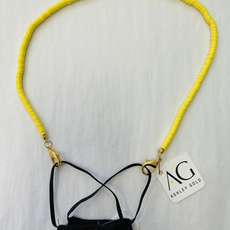 Ashley Gold Yellow Seed Bead Children's Mask Chain
