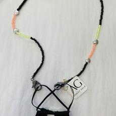 Ashley Gold Lime Orange Black silver disc Children's Mask Chain