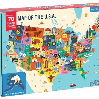 Chronicle Books/Hachette Book Group USA Map USA Puzzle