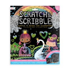 OOLY Scratch and Scribble Art Kit: Princess Garden