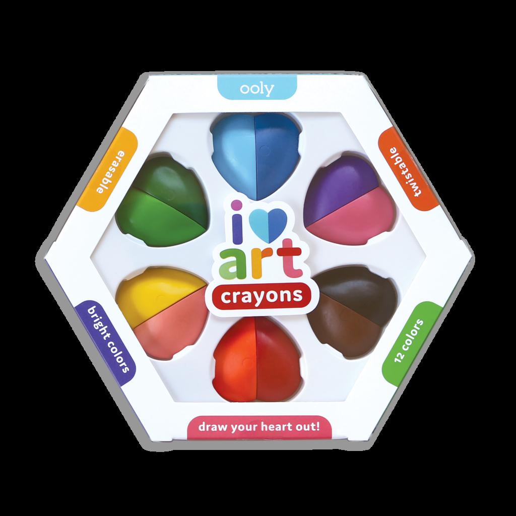 OOLY I heart art erasable crayons set of 6