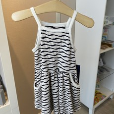 Mabel and Honey Textured Black and White Stripe Dress