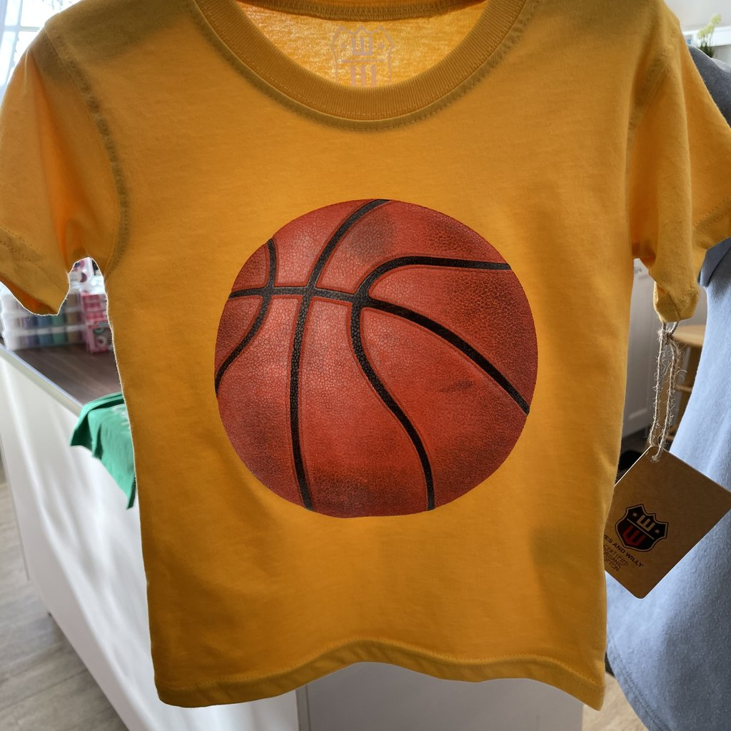 Wes and Willy Gold SS Basketball Tee