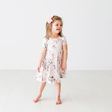 Posh Peanut Vintage Pink Rose SS Twirl Dress