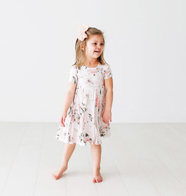 Posh Peanut Vintage Pink Rose SS Twirl Dress