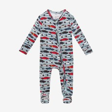 Posh Peanut Miles Footed Zippered One Piece