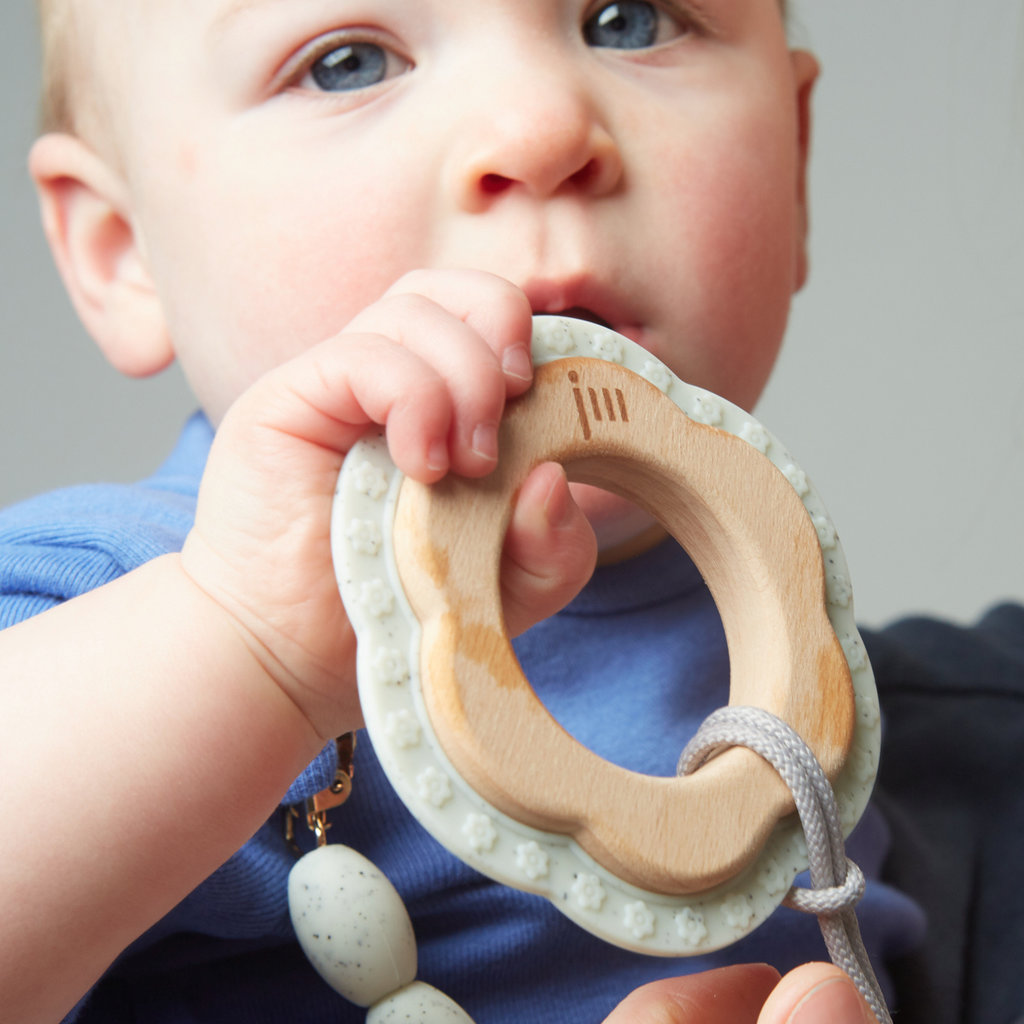 January  Moon Moonlight Wood and Silicone Teether