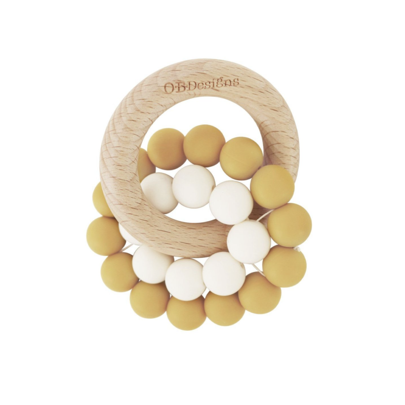 OB Designs USA LLC Turmeric Beechwood Silicone Teether