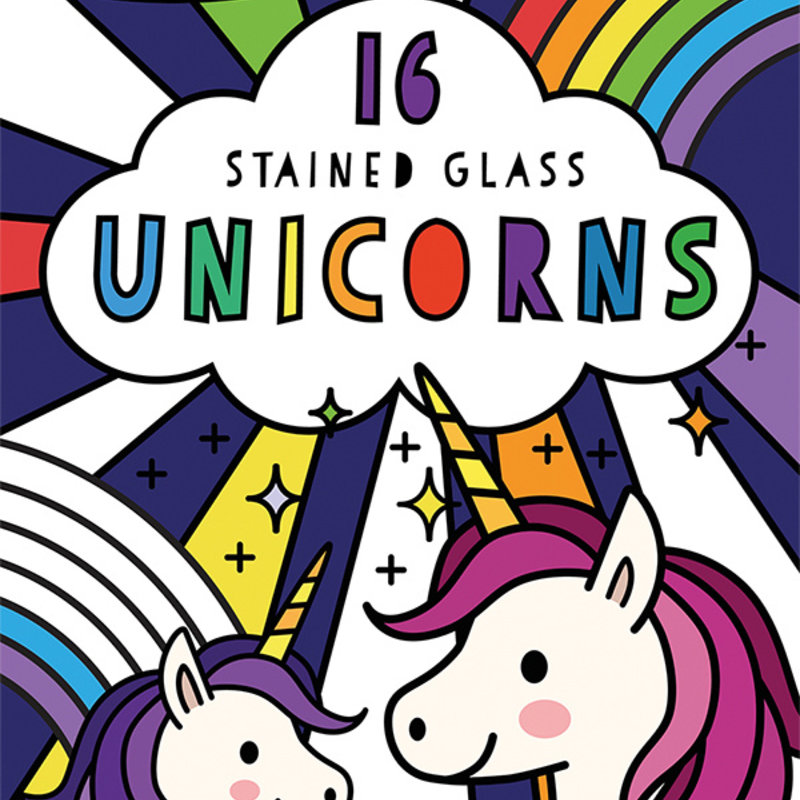 Usborne Books Stained Glass Unicorns
