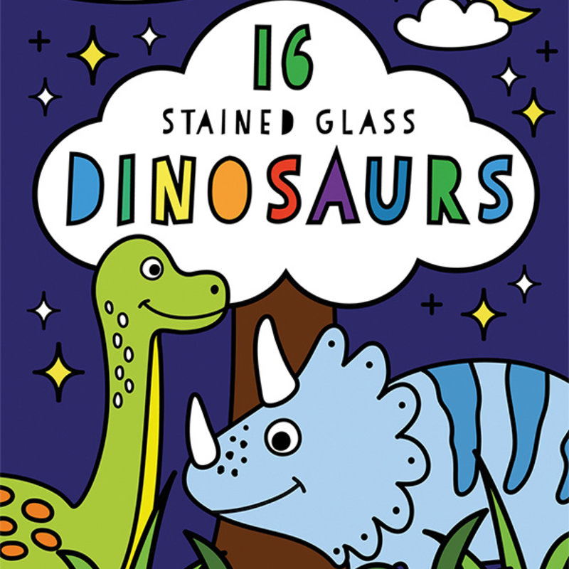 Usborne Books Stained Glass Dinosaurs