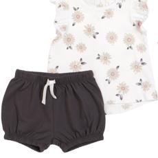 Petit lem Flower White Cap Sleeve Top