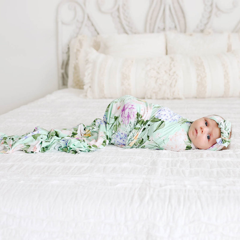 Posh Peanut Erin Infant Swaddle and Headwrap