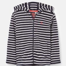 Joules Furlow Navy White Stripe Zip Up