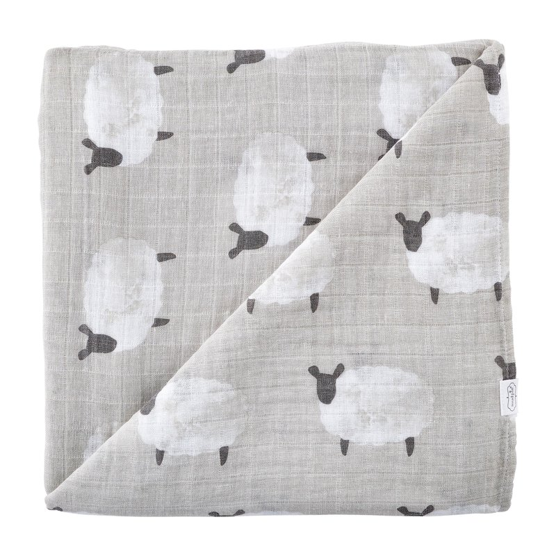 Mud Pie Lamb Muslin Swaddle