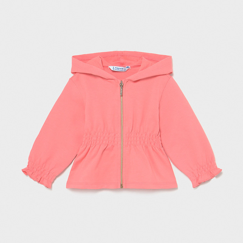 Mayoral USA Flamingo Pink Zip Up hoodie