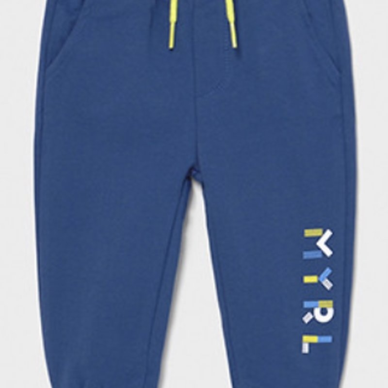 Mayoral USA Blue with Lime accents joggers