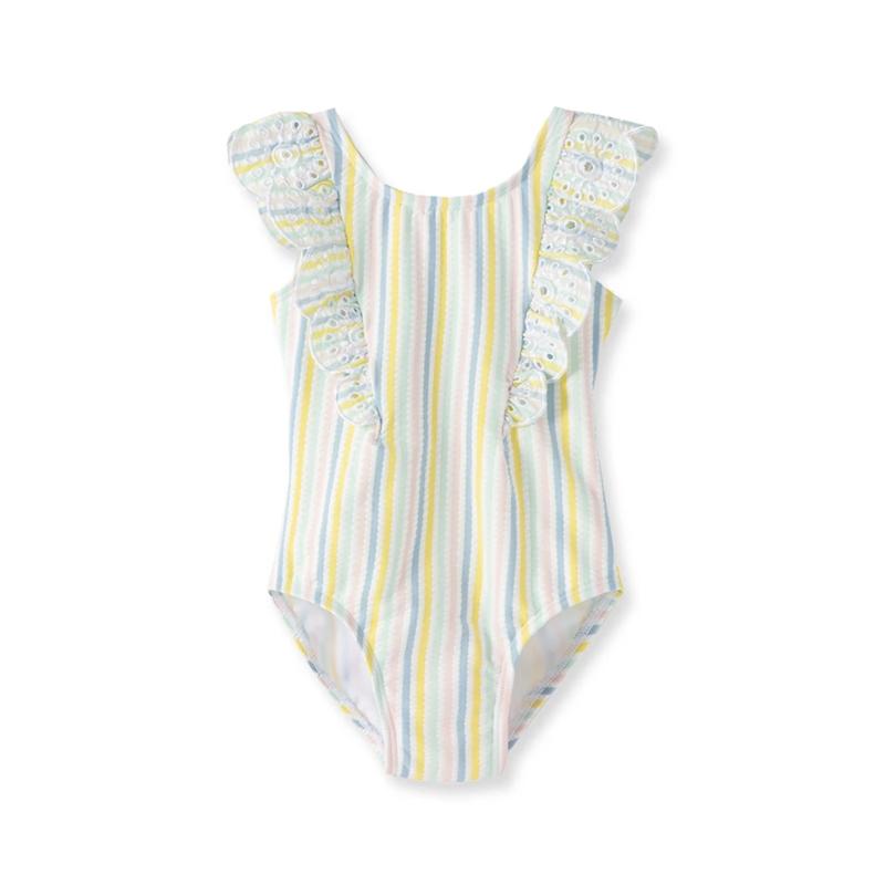 Little Me Multi Stripe Bathing Suit