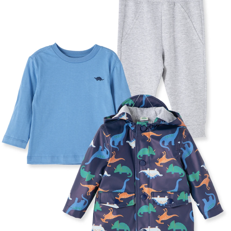 Little Me Dino Rain Jacket Set