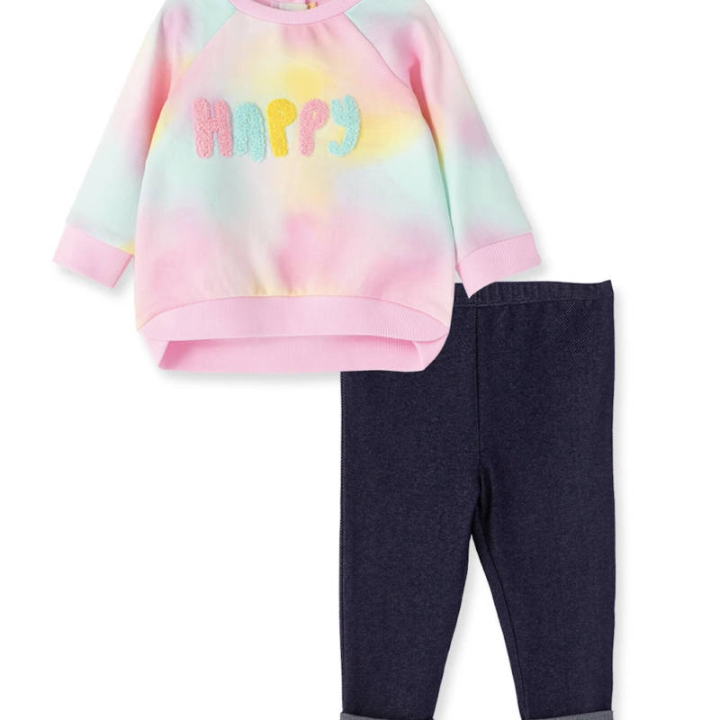 Little Me Happy Sweatshirt Set
