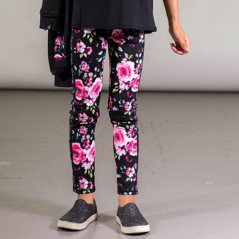 Deux Par Deux Floral Printed Leggings