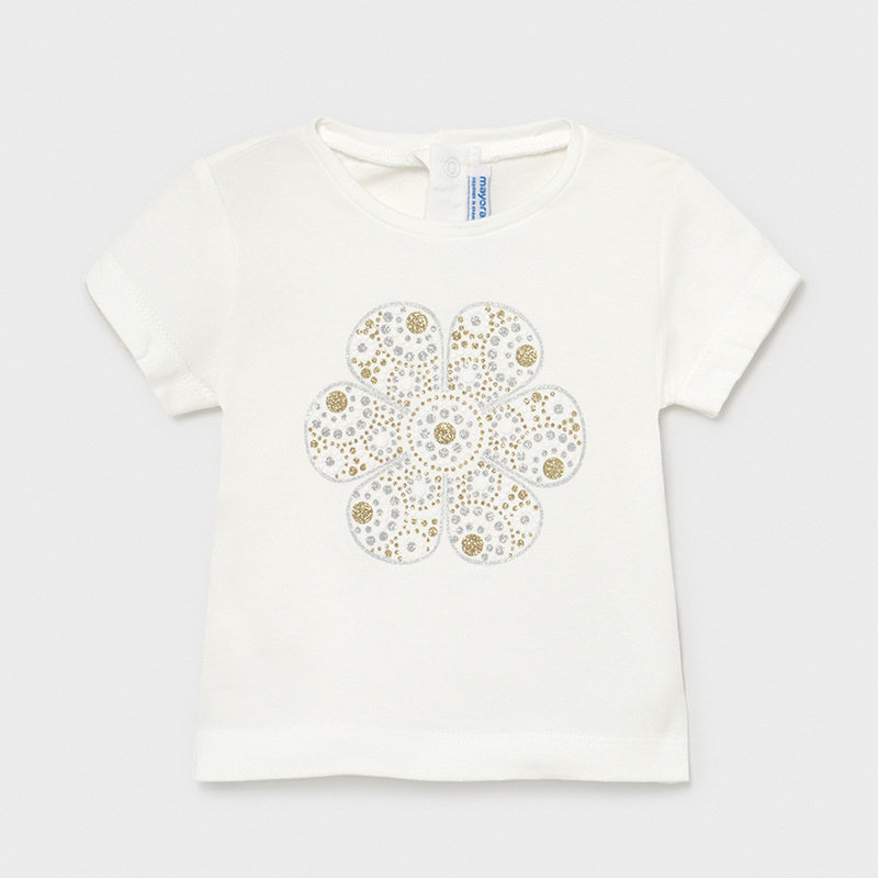 Mayoral USA Ecofriends White Tee with gold silver