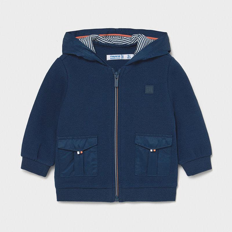 Mayoral USA Azur Blue Knit Jacket