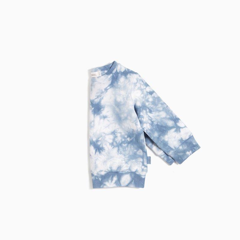 Petit lem Blue Grey Tie Dye Sweatshirt