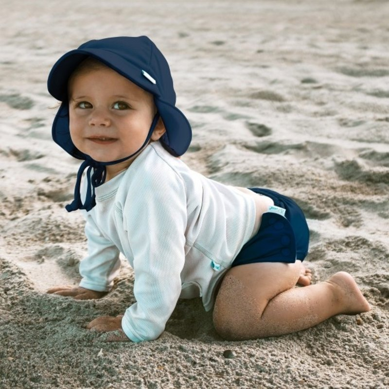 Green Sprouts Navy Sun Flap Hat