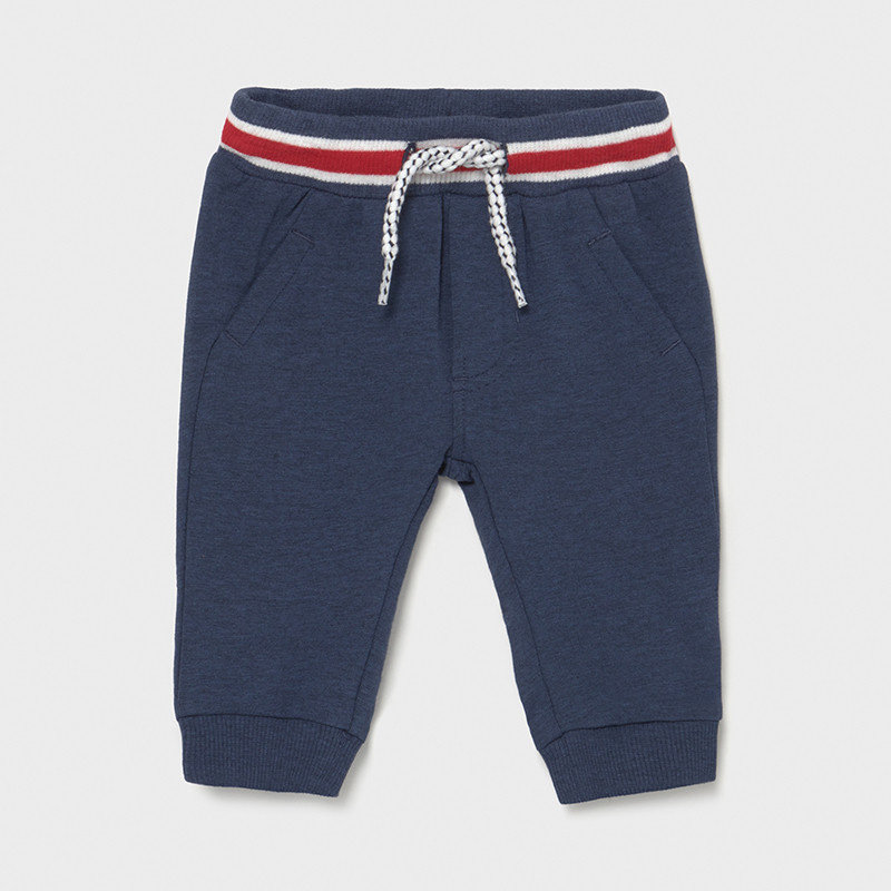 Mayoral USA Sporty Navy Joggers Red Band