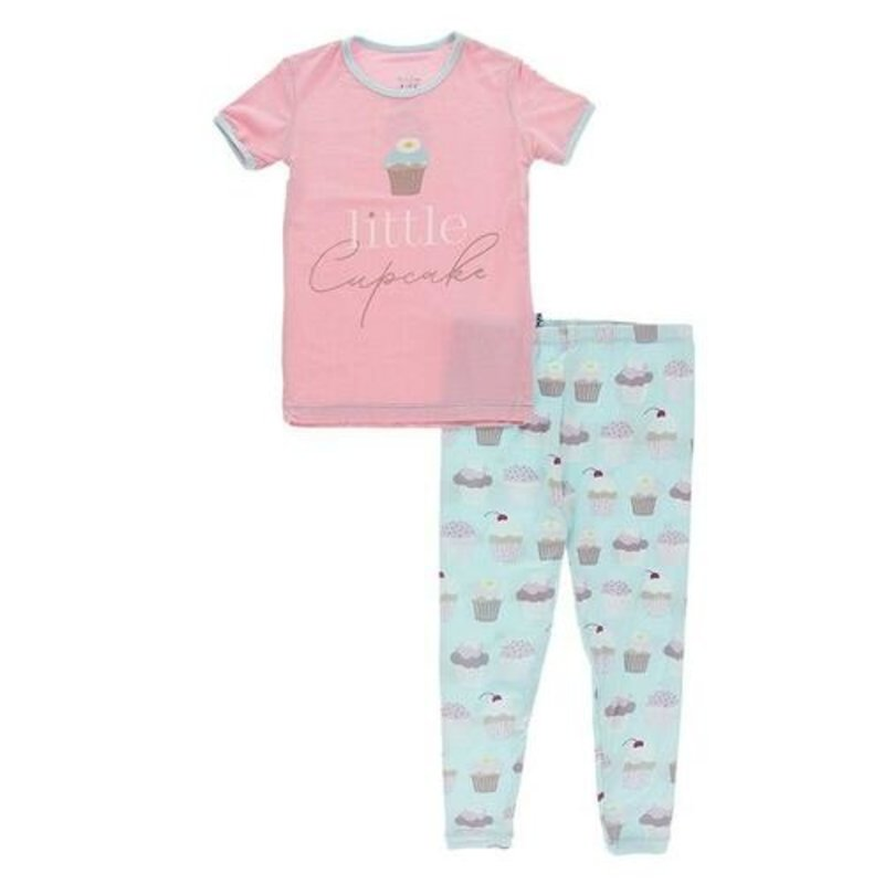 Kickee Pants Summer Sky Cupcakes Short Sleeve PJ