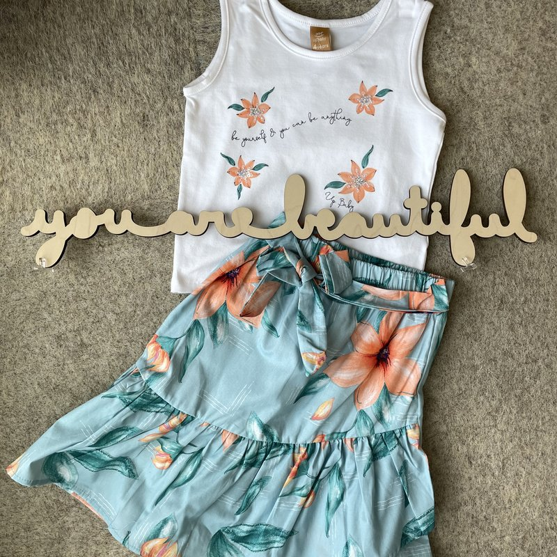 Up Baby by Shop Couture Be Yourself Tank and Skirt Set