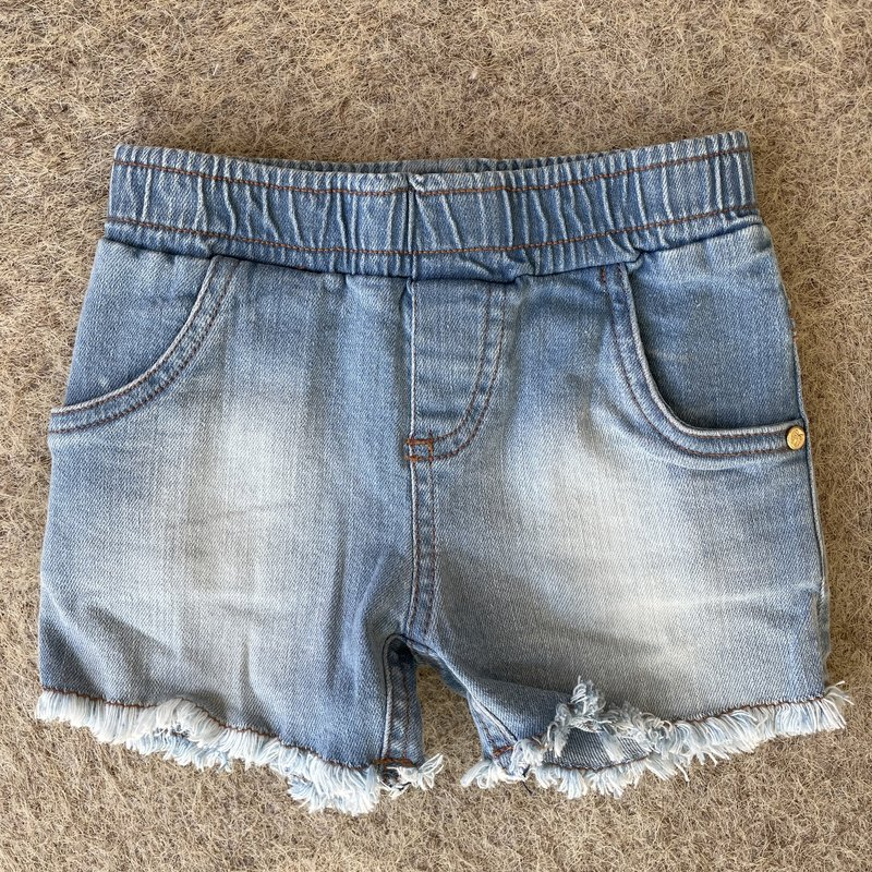 Up Baby by Shop Couture Pull On Fray Denim Shorts