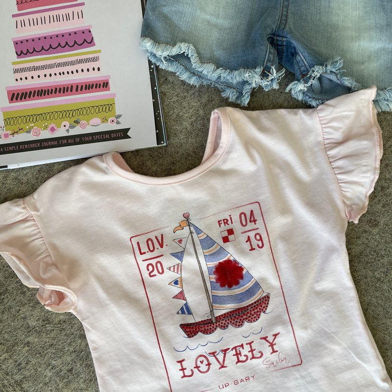 Up Baby by Shop Couture Lovely Pink Tee Shirt