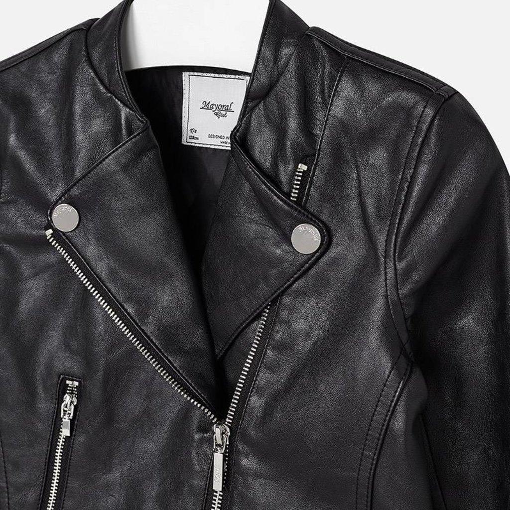 Mayoral USA Black Leather Jacket